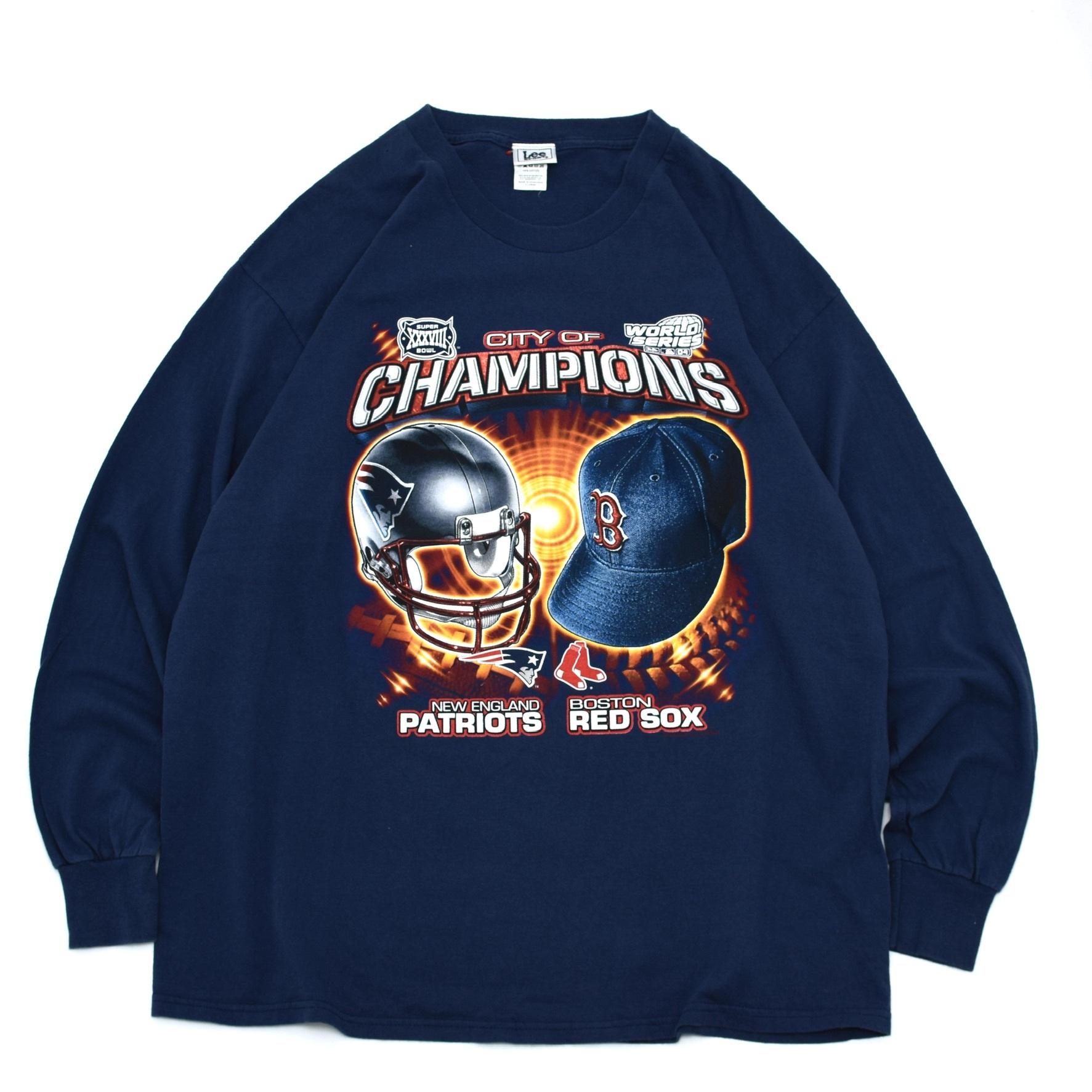 PATRIOTS & RED SOX champions LS T shirt
