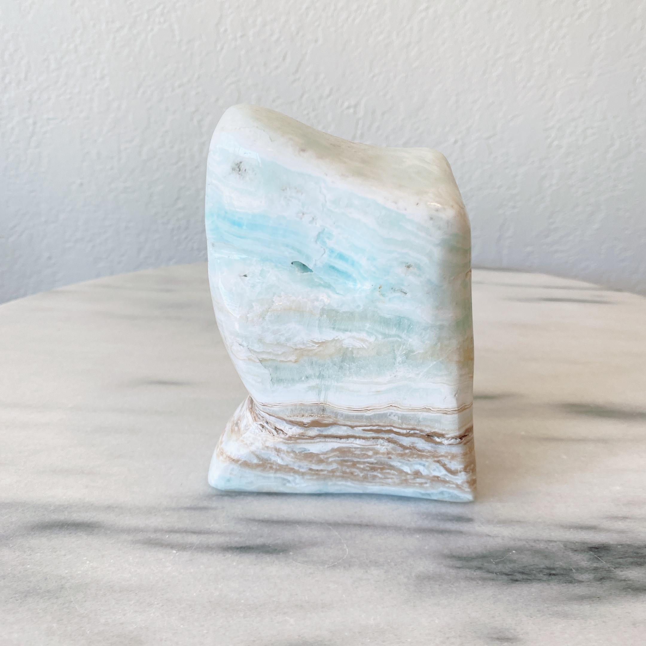 カリビアンブルーカルサイト レア型 パワーストーン 天然石