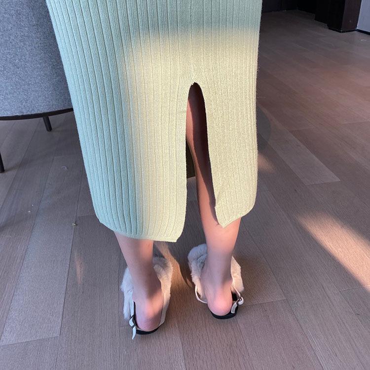 〈骨格診断〉骨格ストレートのニットタイトスカート
