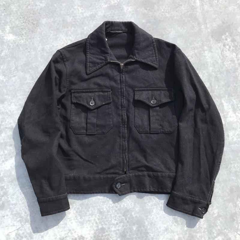 40'S 50's HERCULES ヘラクレス ウールジャケット Sears ネイビー CROWNジッパー 2ポケ 36~38位 希少 ヴィンテージ