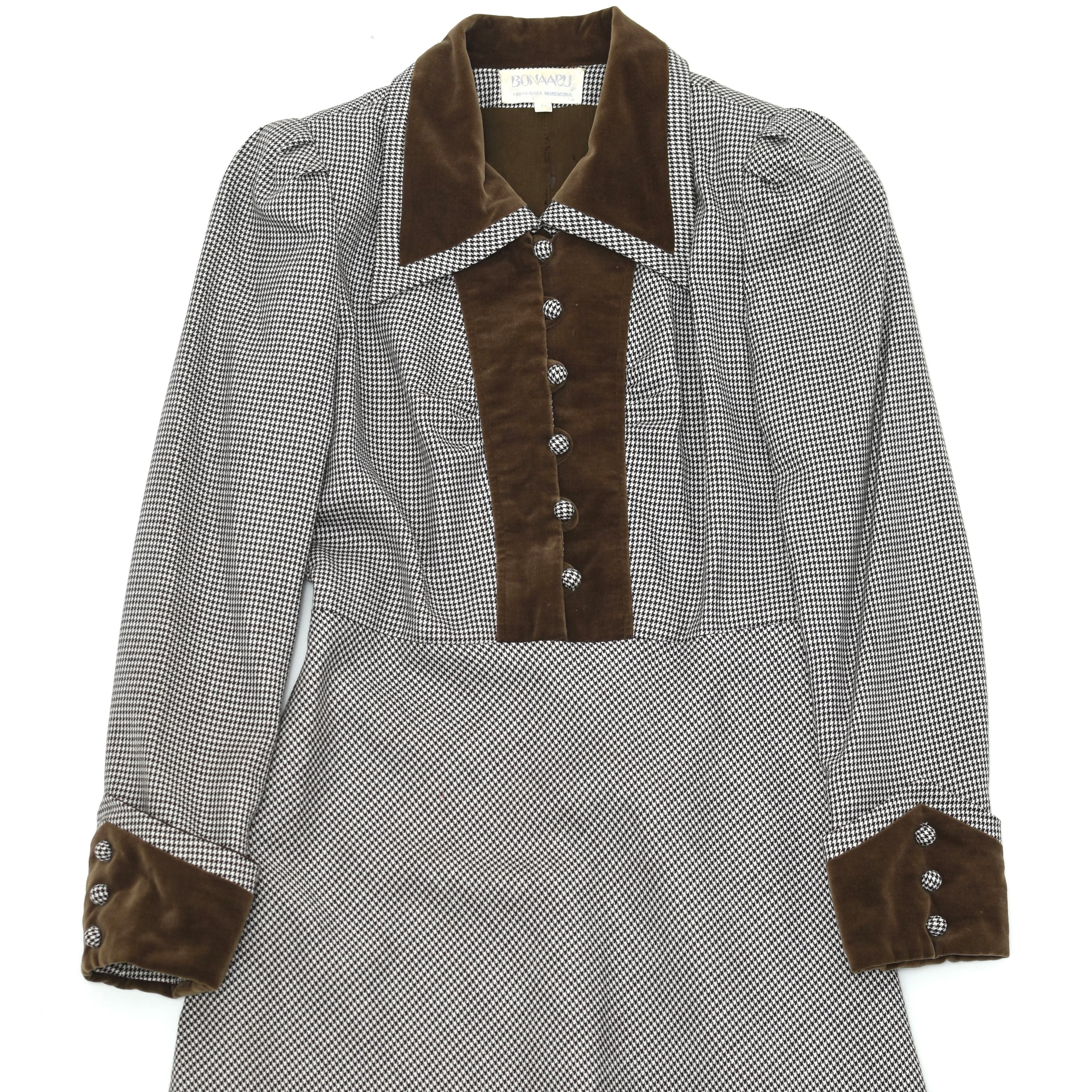 Vintage Houndstooth check onepiece