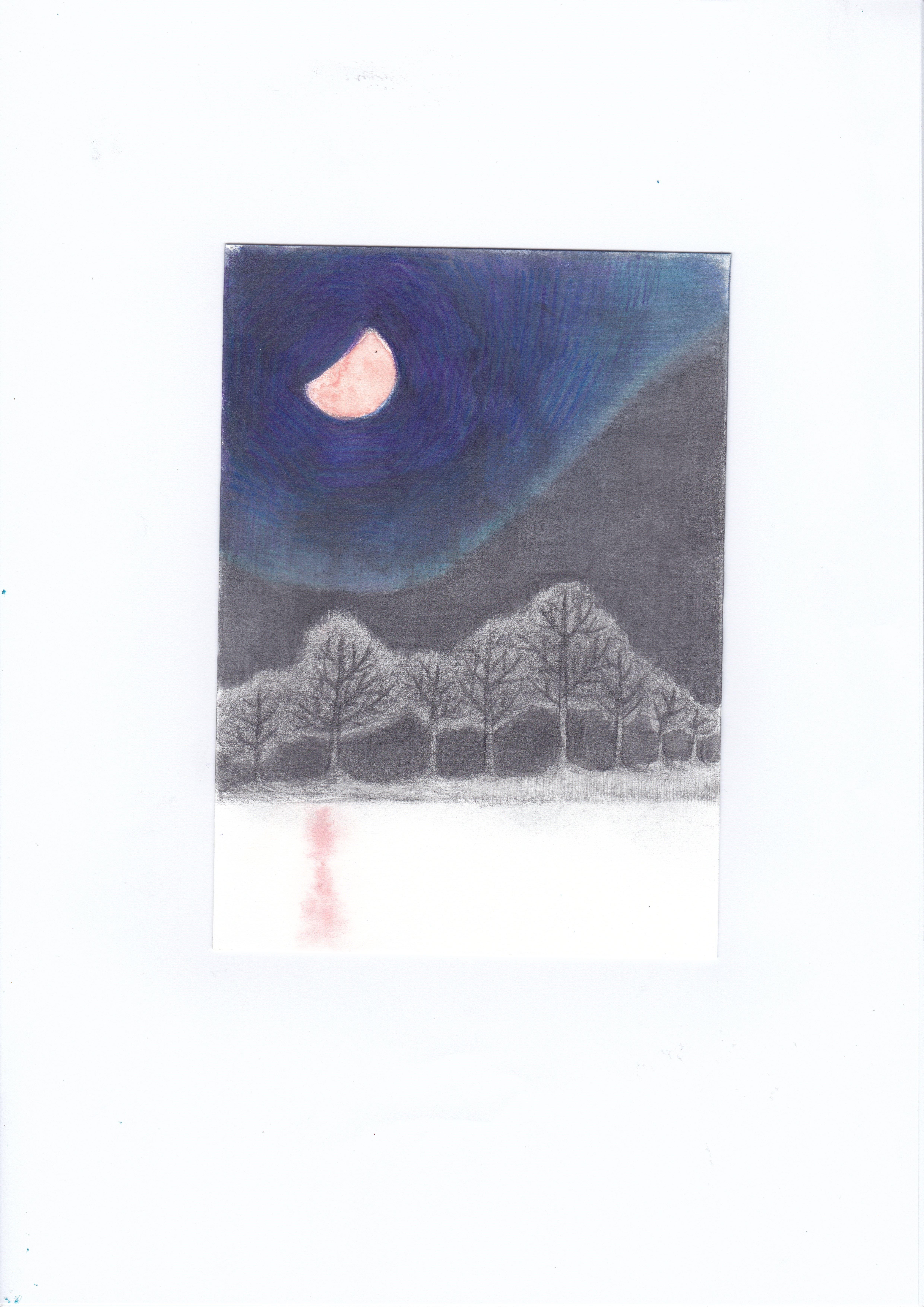 こまちだたまお《ブロンズ色の月》