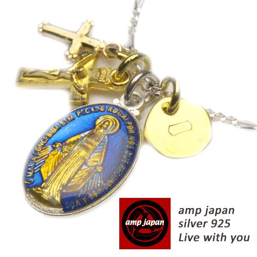 AMP JAPAN/アンプジャパン   樹脂マリアメダイ&クロスネックレス 16ahk-177