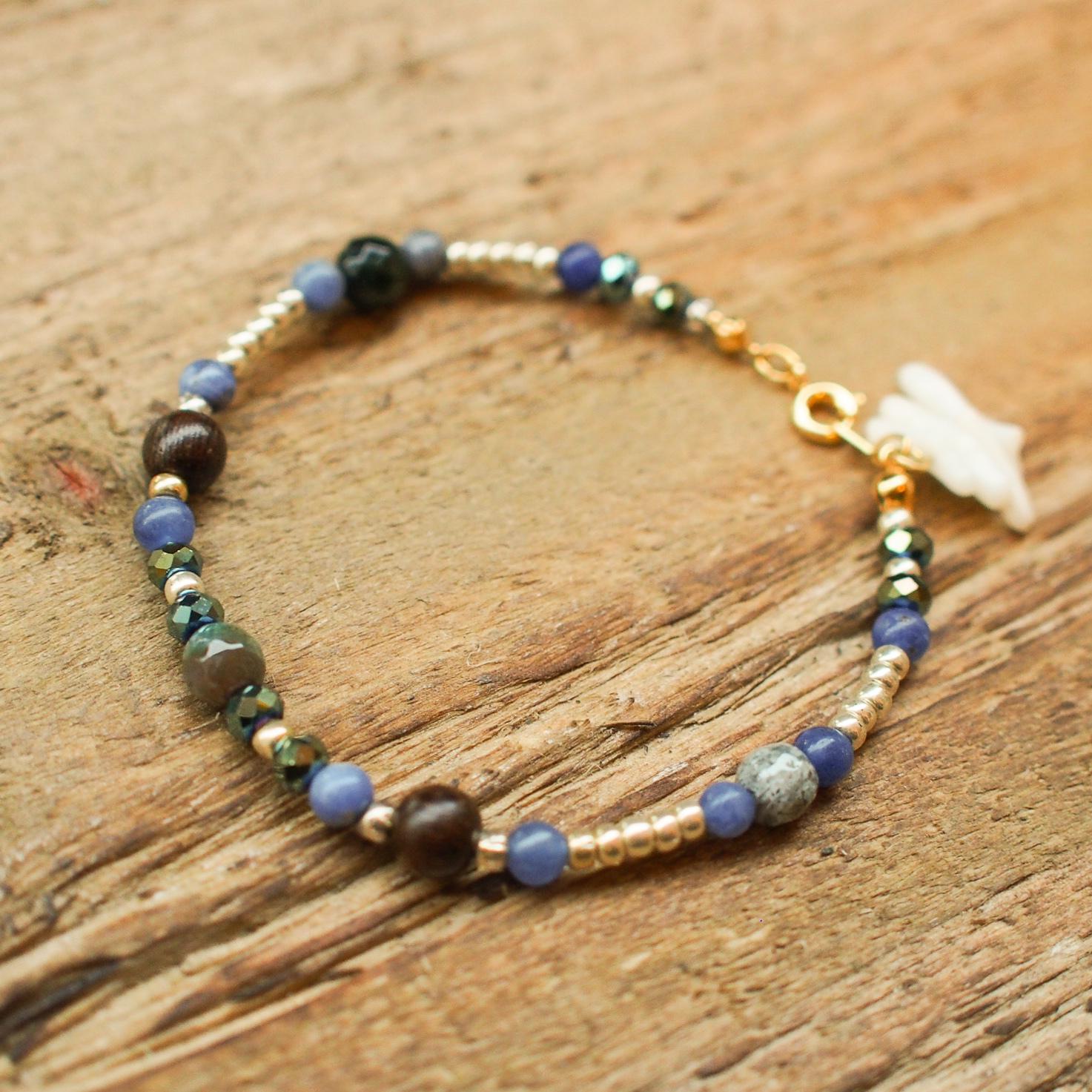 【Indian Agate】×【Sodalite】Bracelet