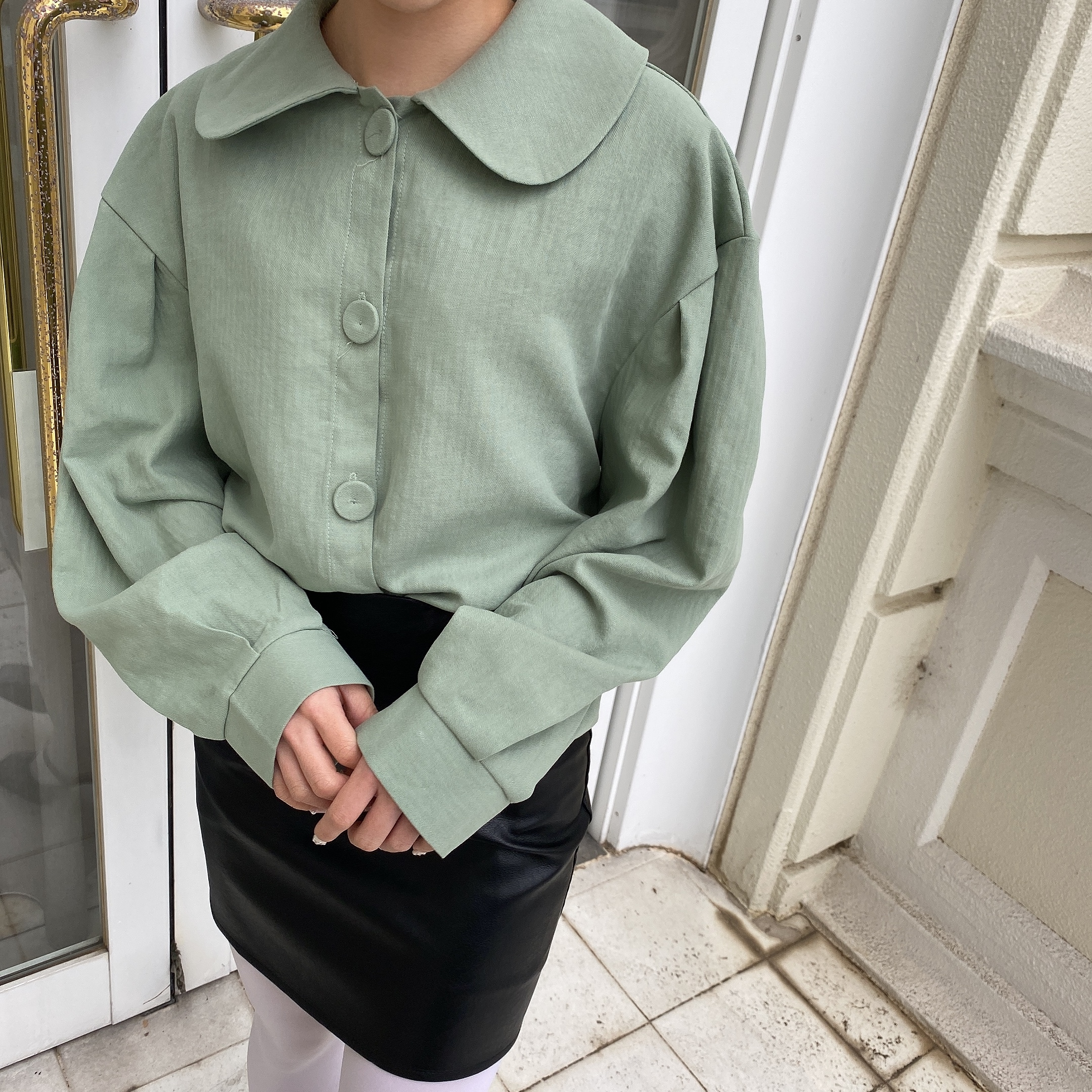 pastel color blouse