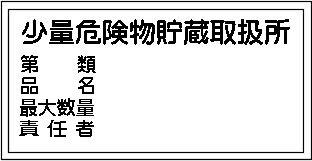 少量危険物貯蔵取扱所、第類、品名、最大数量、責任者 アルミ   AS344