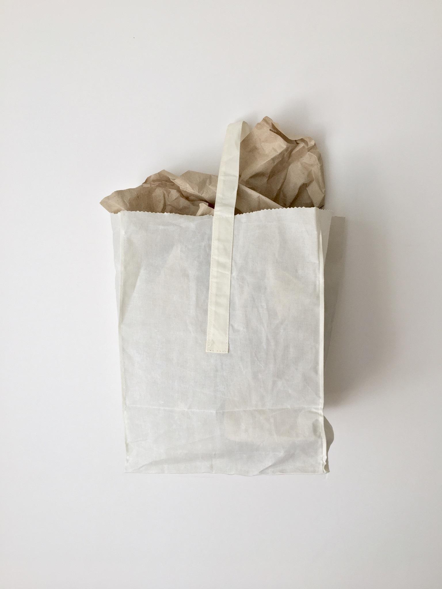 グロサリーバッグ|Grocery Bag with Handle White(PUEBCO)