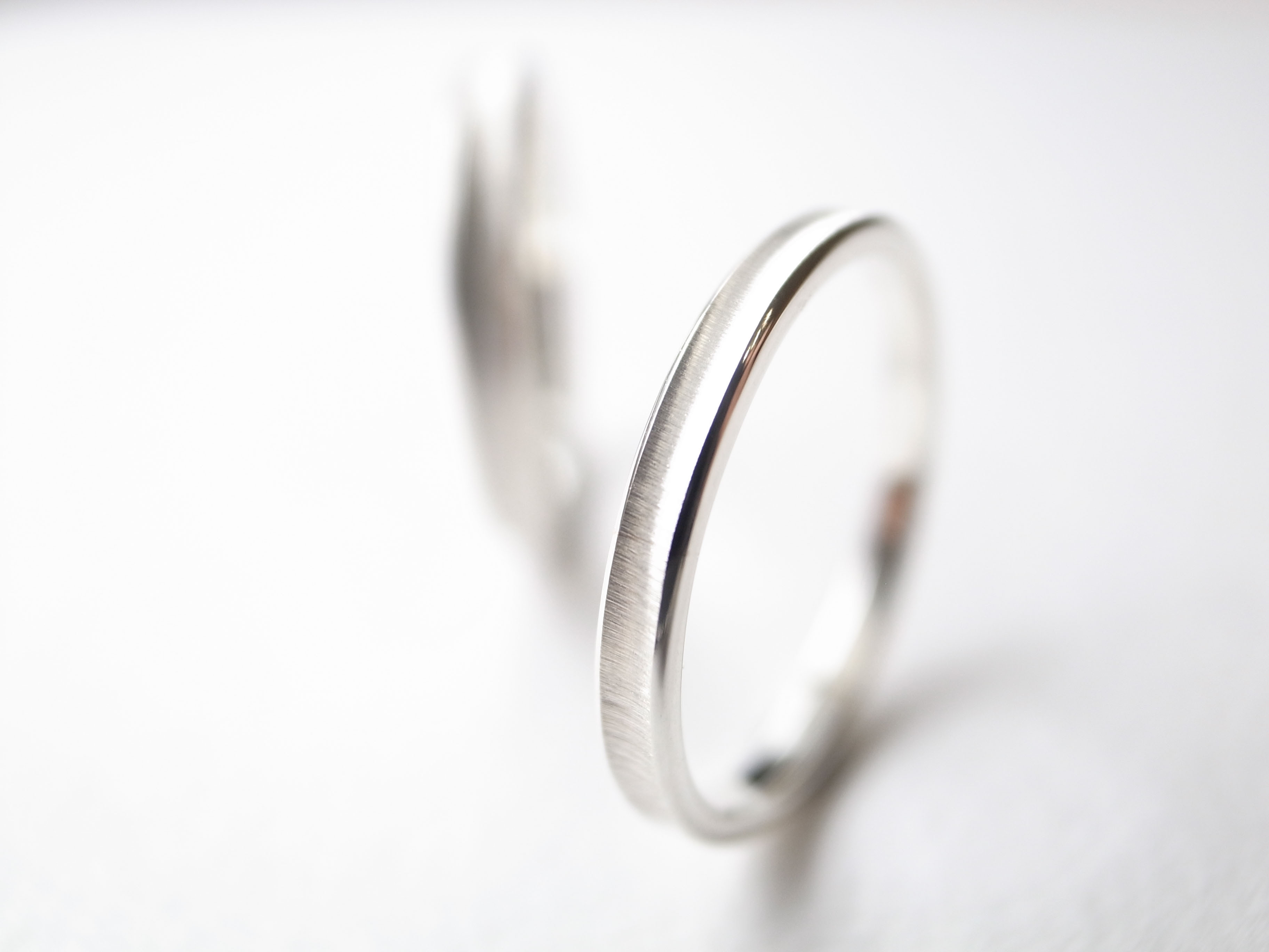 【pairing・stamp】silver950/gloss ring