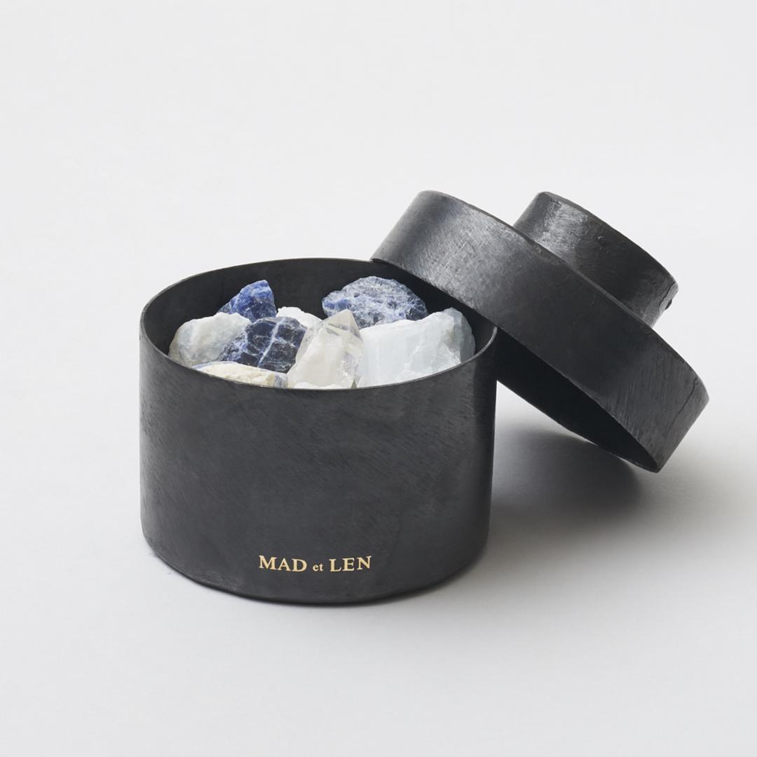 FLAT POT POURRI BLUE MINI(天然石)TERRE NOIRE [ MAD et LEN ]