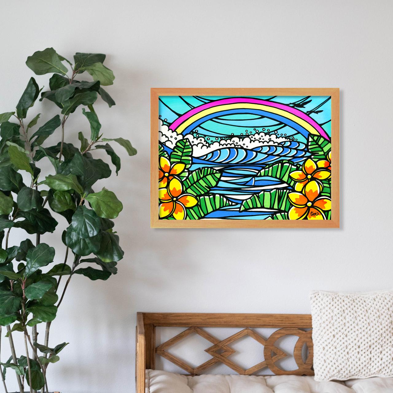 原画 A3(Rainbow Plumeria)
