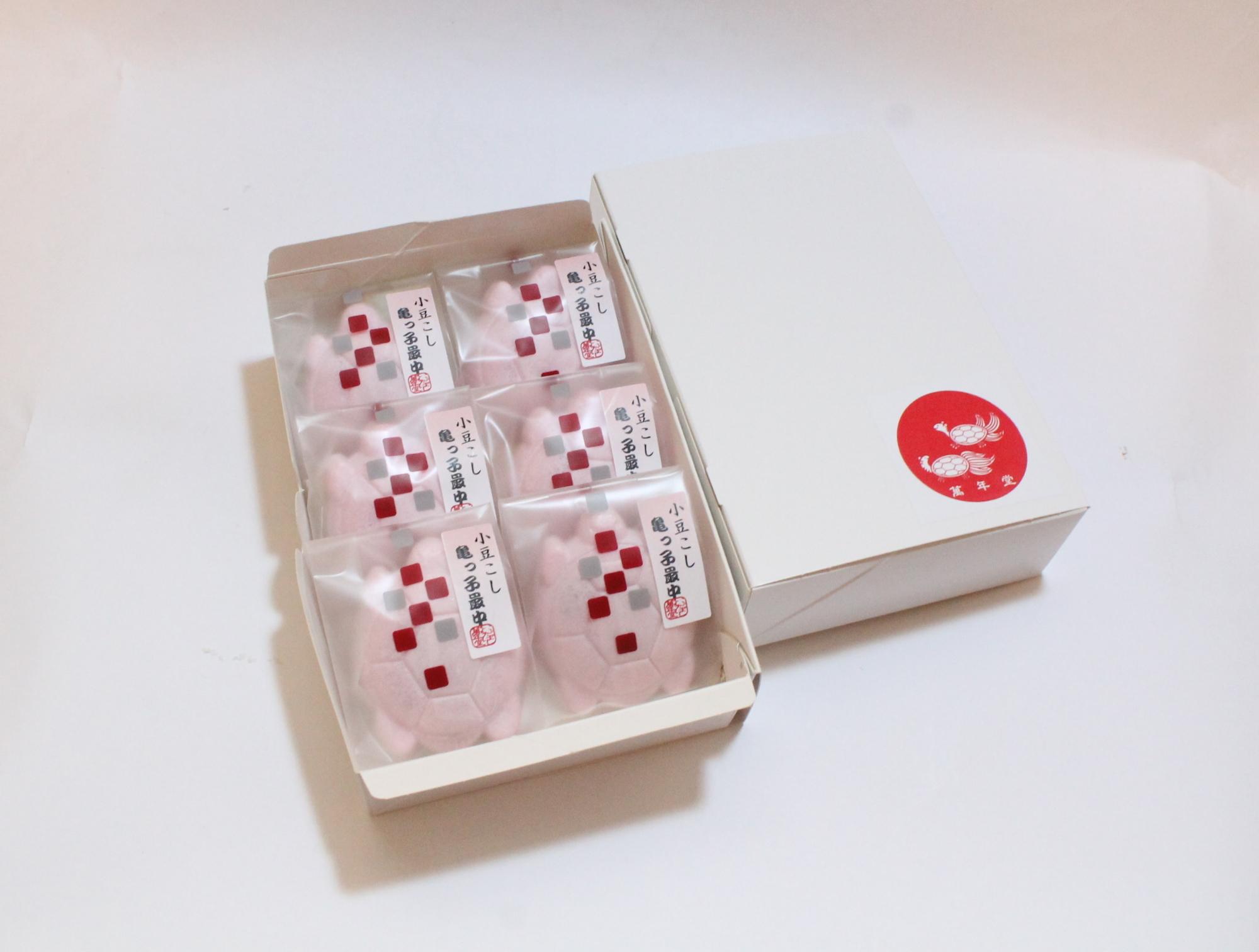 <簡易箱>亀っ子最中 6個入(こしあん6個)