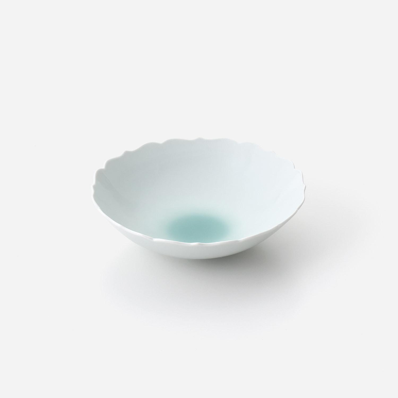 No.62 青磁たまり 輪花中鉢