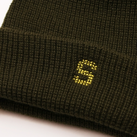 S LOGO WATCH CAP #BROWN