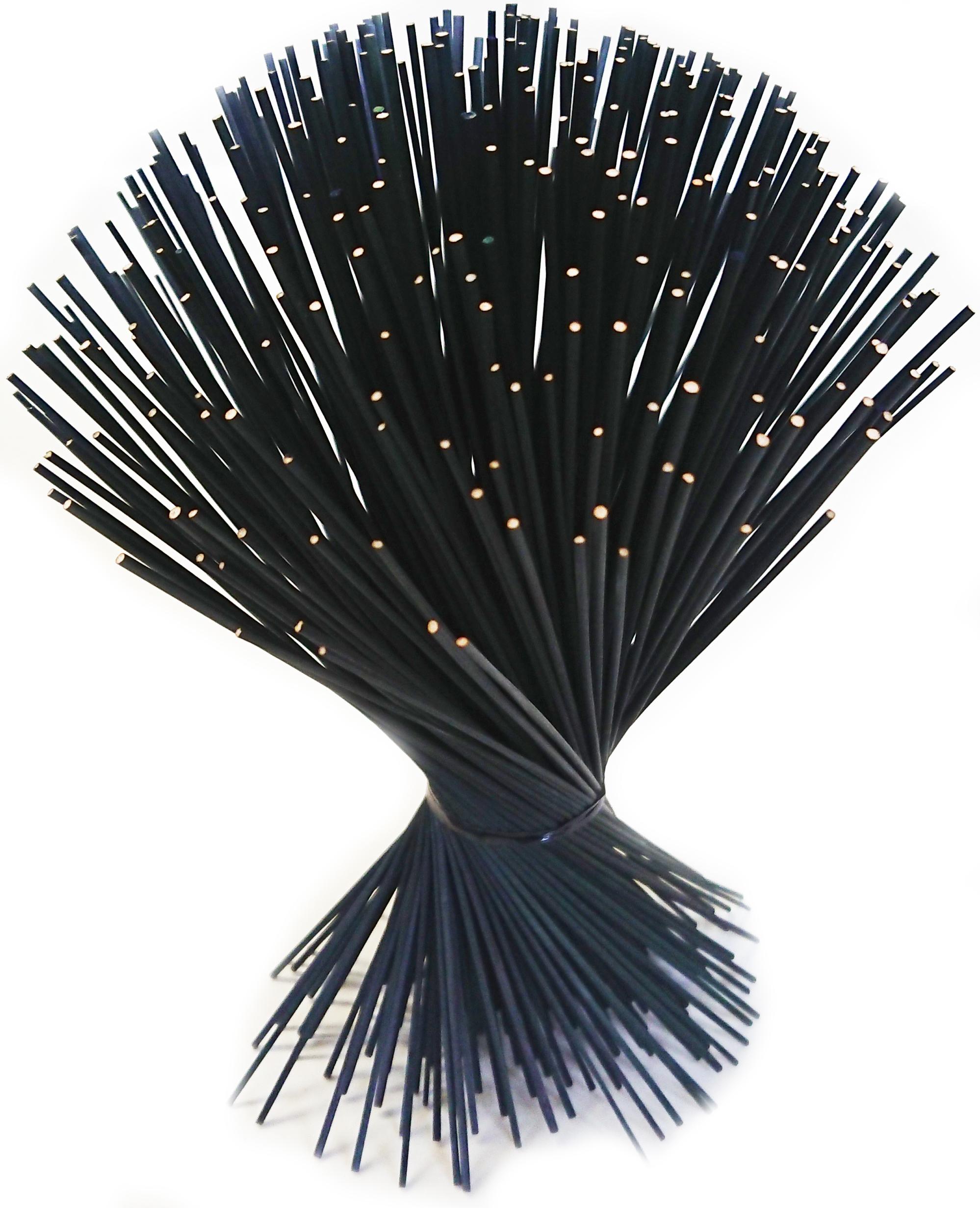 【イ草フラワー ミニ ブラック】Rush Grass Flower Mini Black 17.5cm