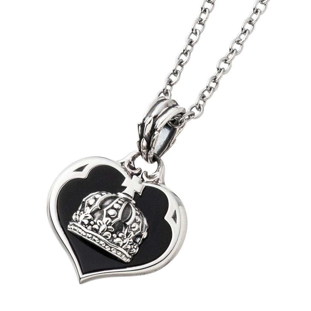 クラウンハートペンダント AKP0126 Crown heart pendant