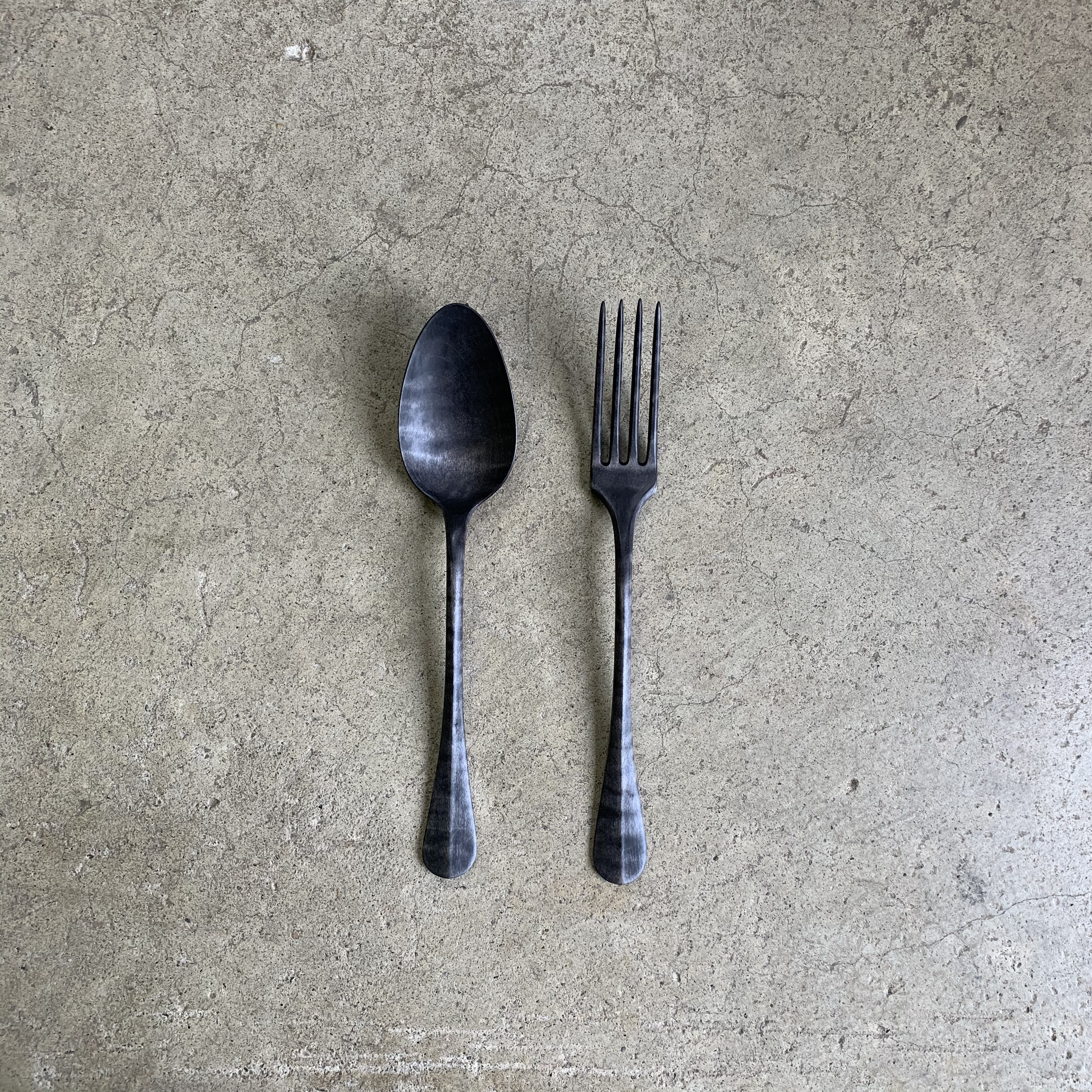 Wood spoon & fork no,1