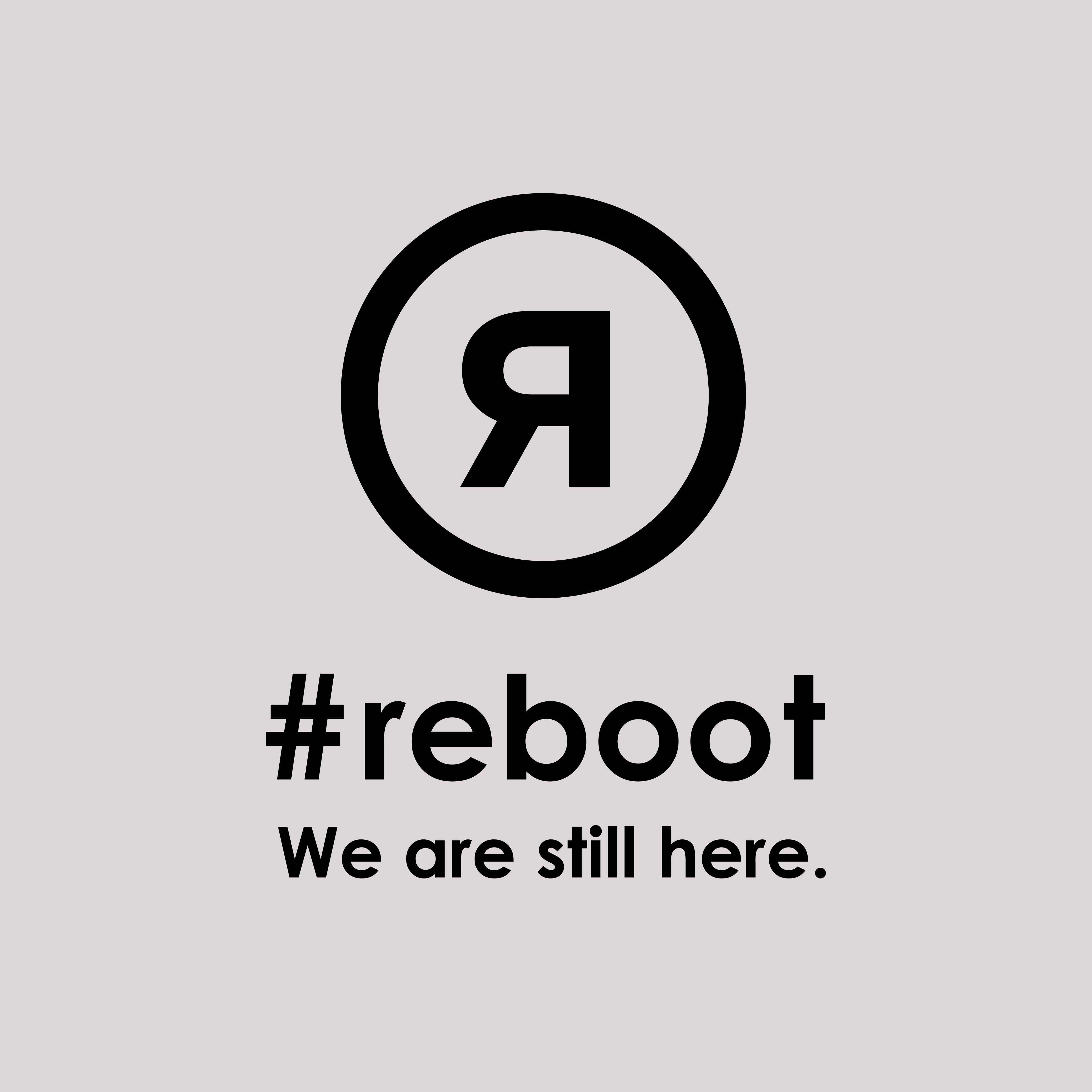 #rebootステッカー|グレー