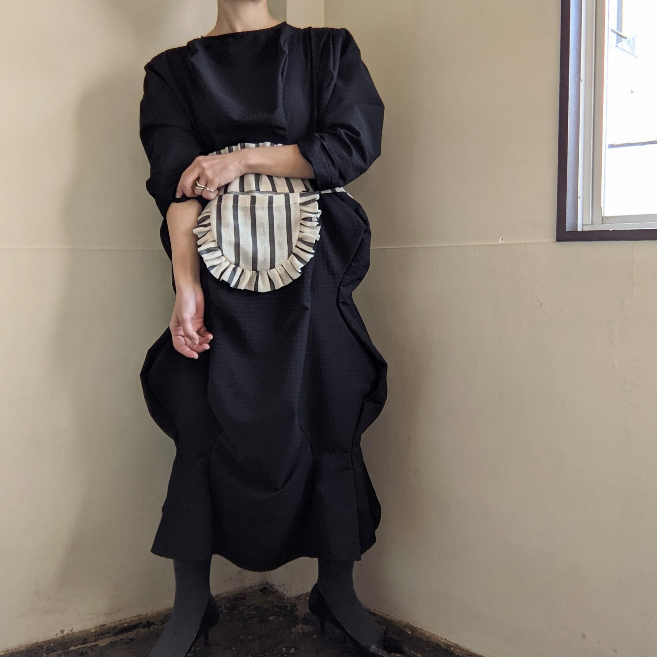 ☆BLACKのみ☆【 HOUGA 】ホウガ / mary twisted dress  / ギンガムチェック