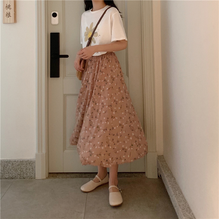 フローラルロングスカート