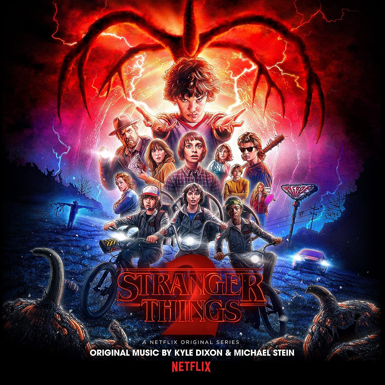 KYLE DIXON & MICHAEL STEIN - STRANGER THINGS SEASON 2  (LTD. Upside Down Inter-Dimensional Blue 2LP)