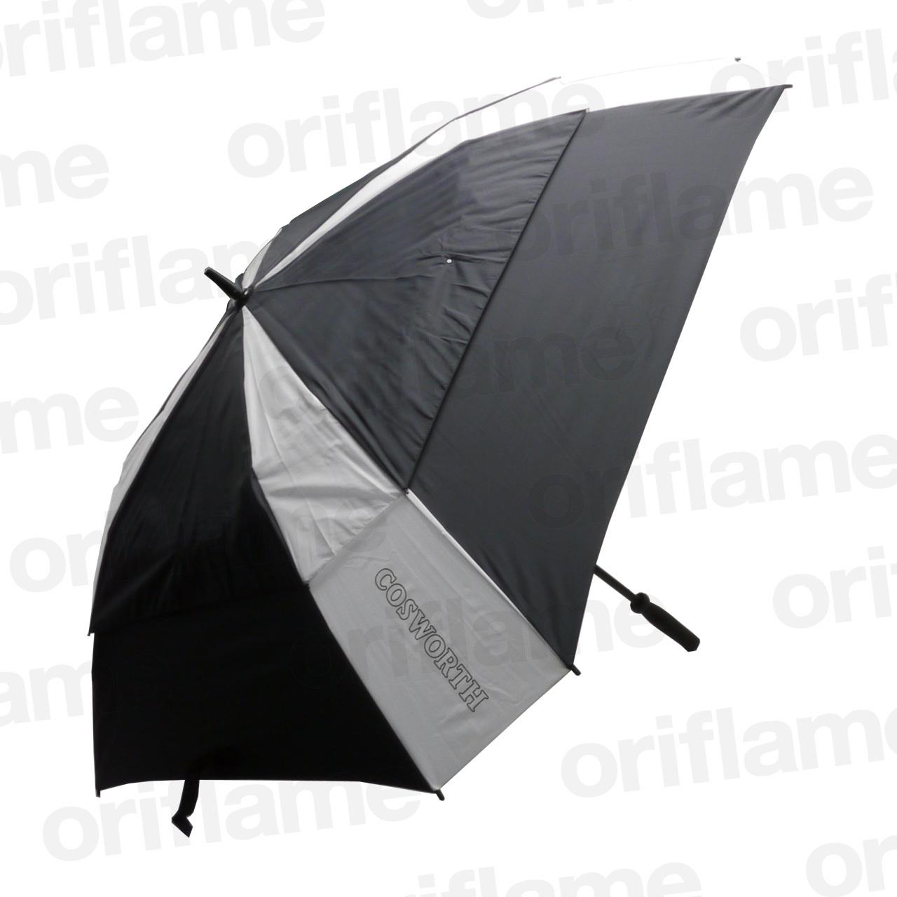 傘・コスワース・ラバーグリップ・ブラック&ホワイト
