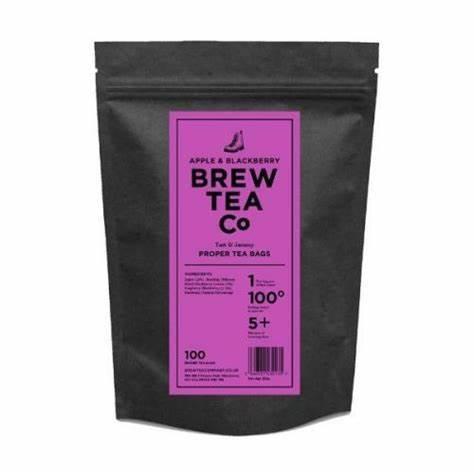 【30%オフ特別価格!】BREW TEA Co. ブリューティーカンパニー tea bag ティーバッグ 100個入り Apple & Blackberry  アップル & ブラックベリー