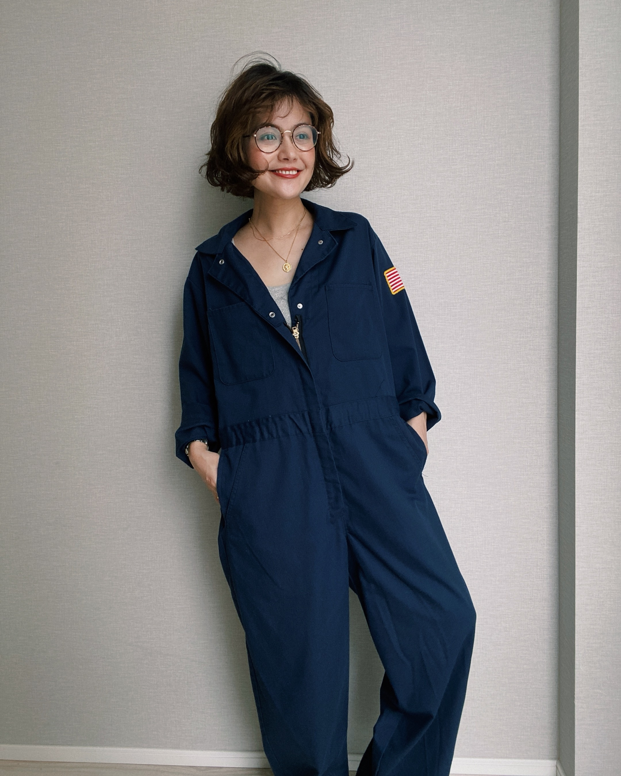 (OP024)80's jump suit made in USA