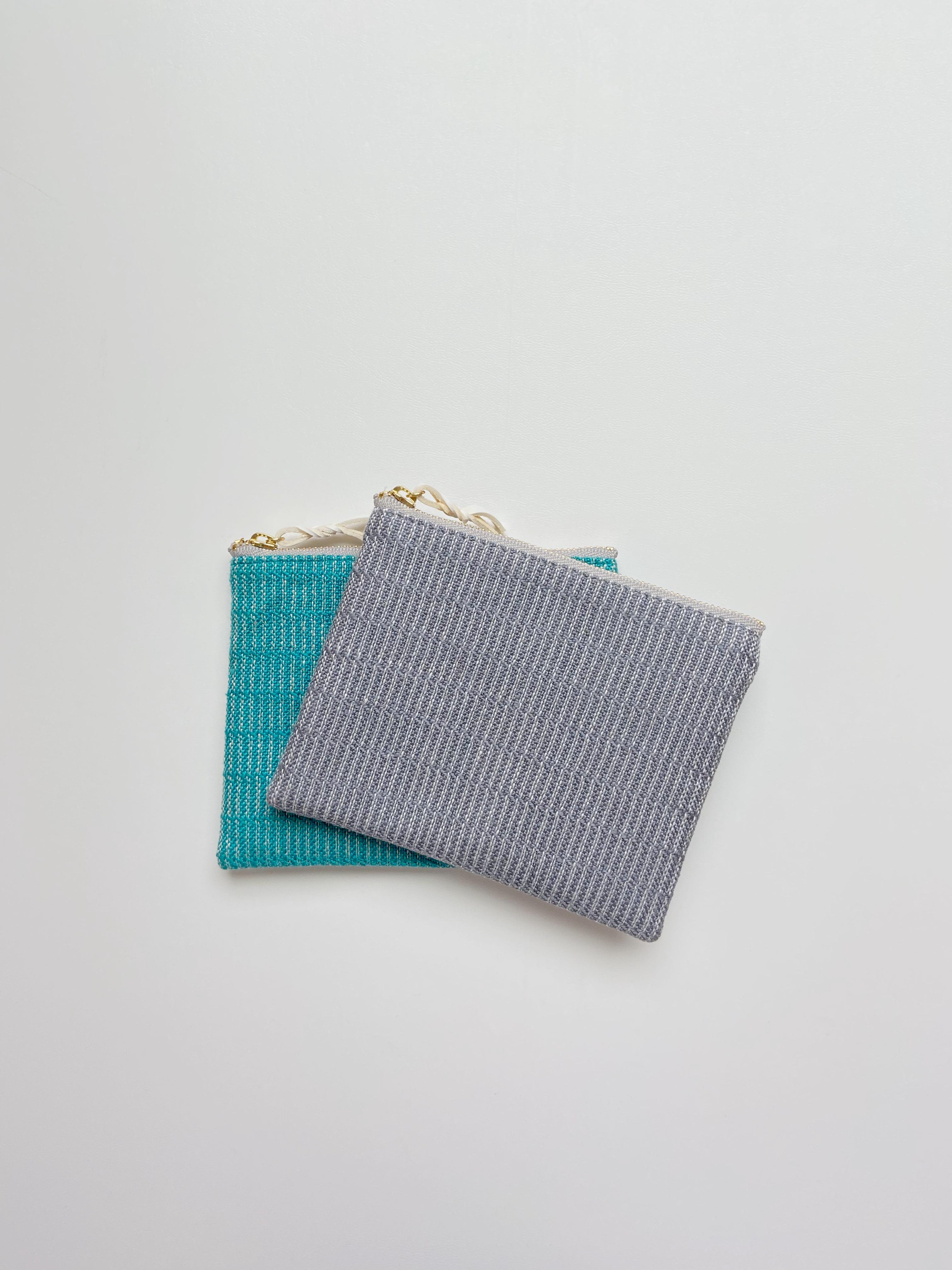 手織りミニポーチ(HAND WOVEN Hand-woven pouch 14cm Alinea)