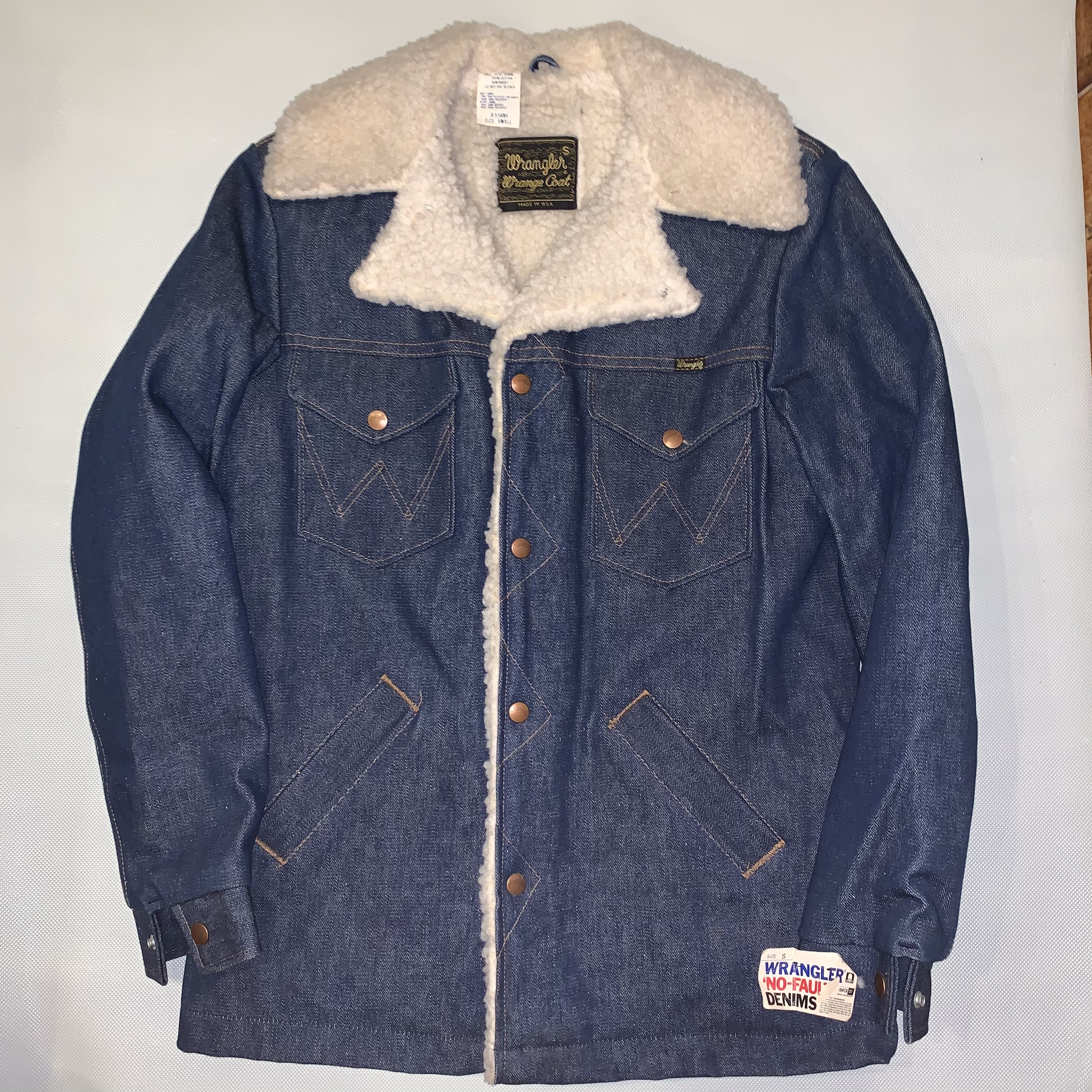 Wrangler Wrange coat ランチコートJL556NV / Denim S-l  70-80's Dead stock  #110