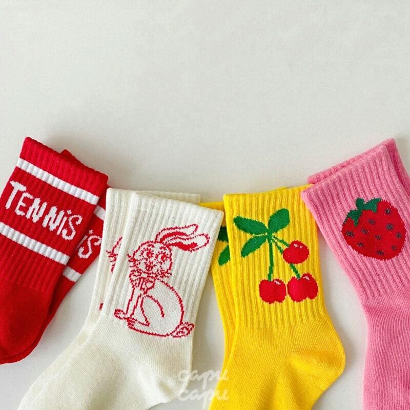 «予約» Tennis socks 4set テニスソックス4足セット