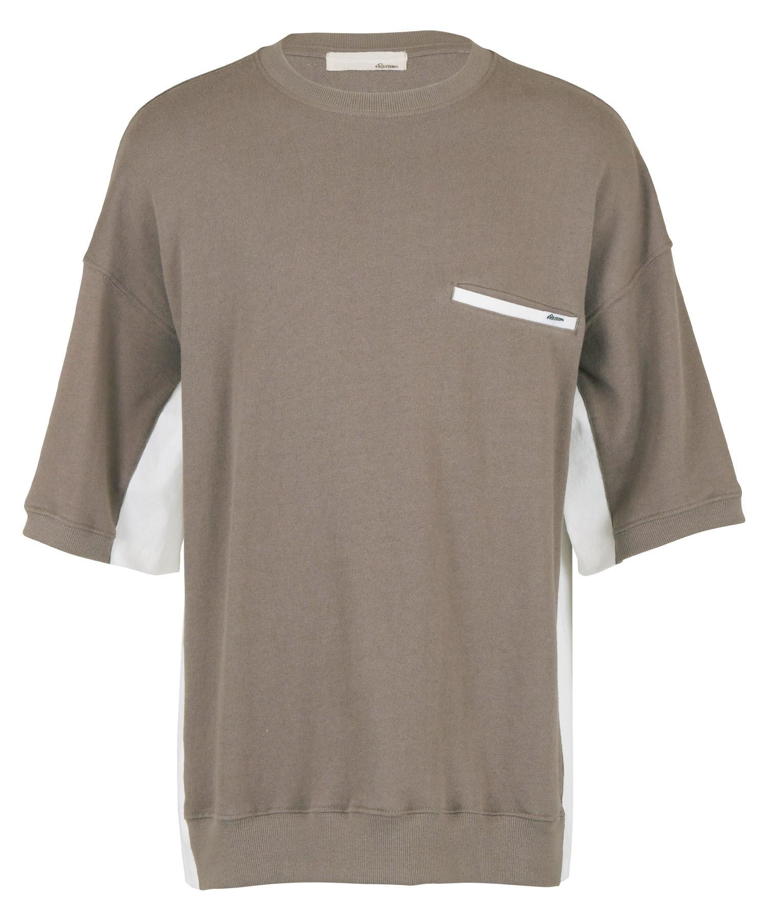 SWITCHING SHORT SLEEVE SWEAT BIG T-shirt[REC521]