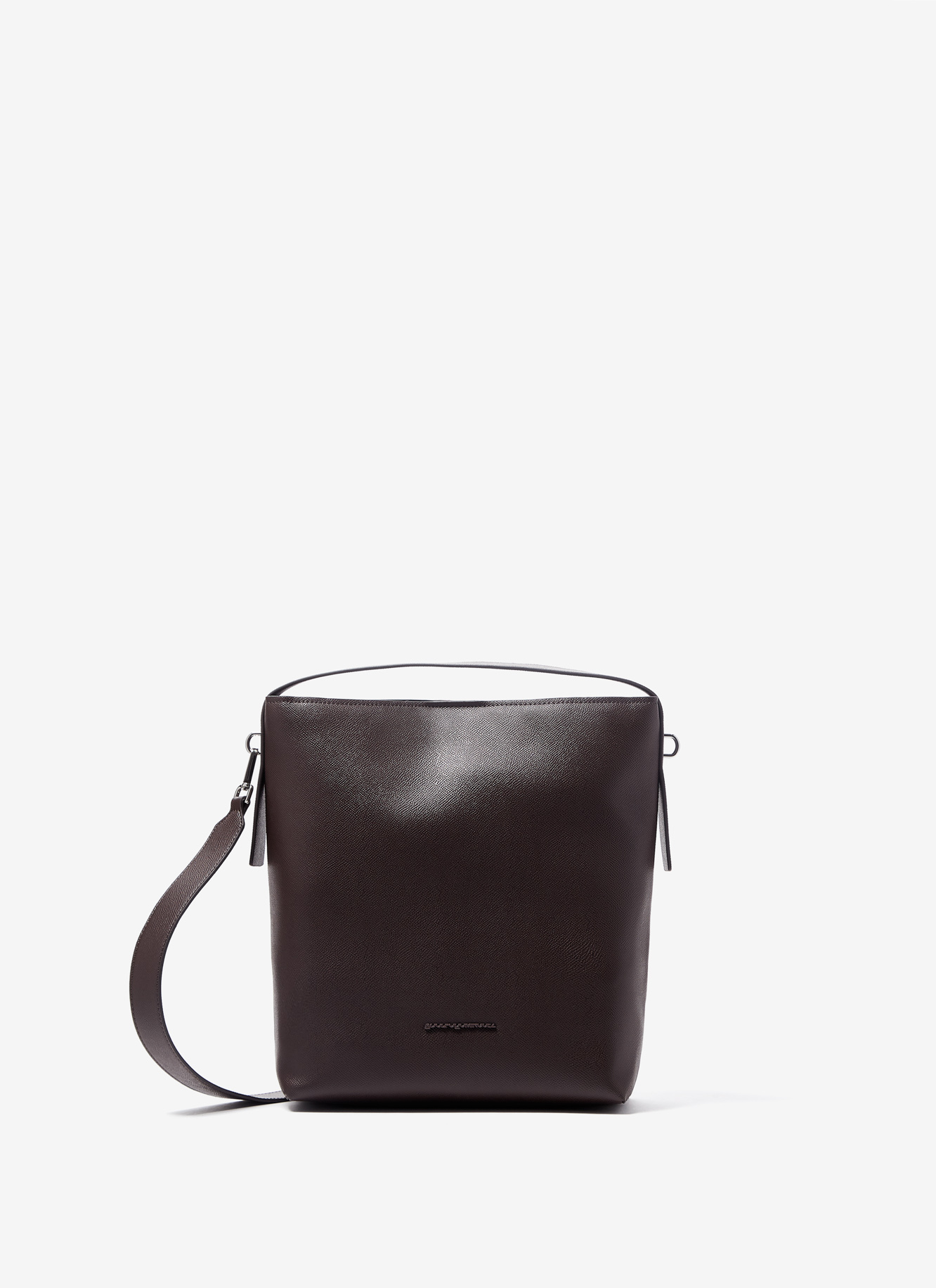 FAUX SAFFIANO BUCKET BAG
