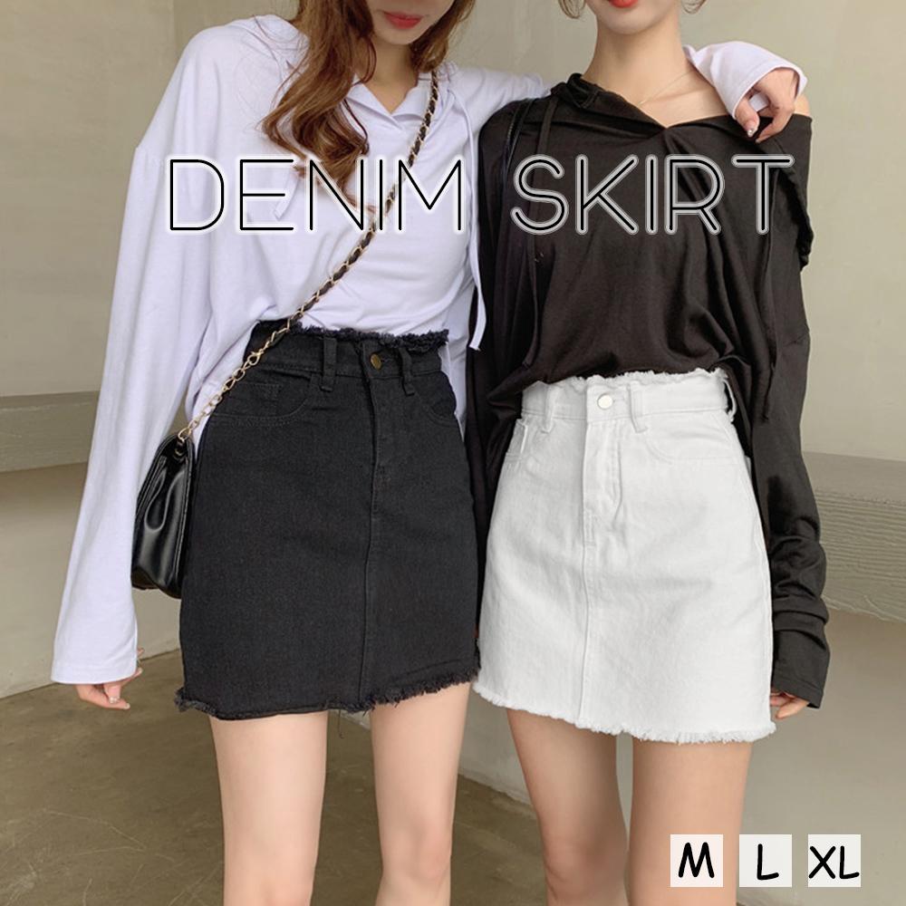 【即納】デニムスカート レディース ミニスカート fa2046