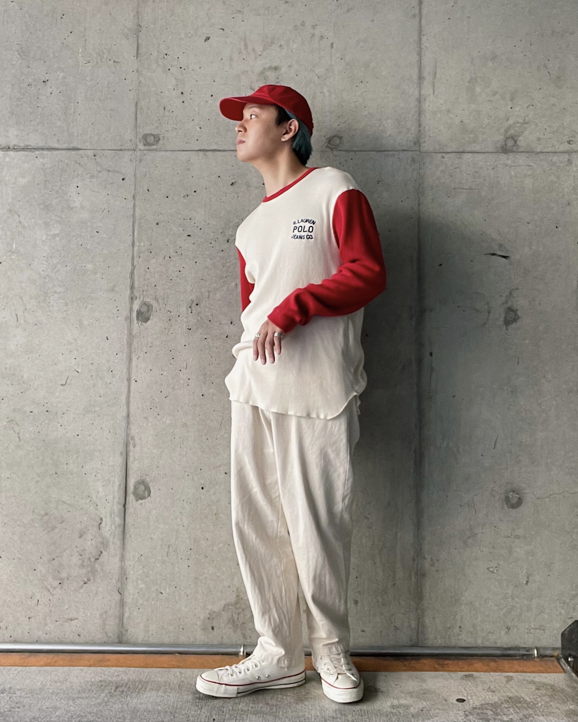 (CS428) POLO JEANS thermal long sleeve T-shirt