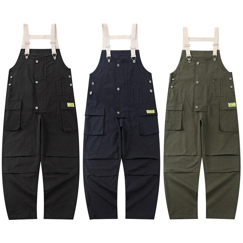 【UNISEX】ワーク カーゴ オーバーオール サロペット マルチポケット【3colors】UN-558