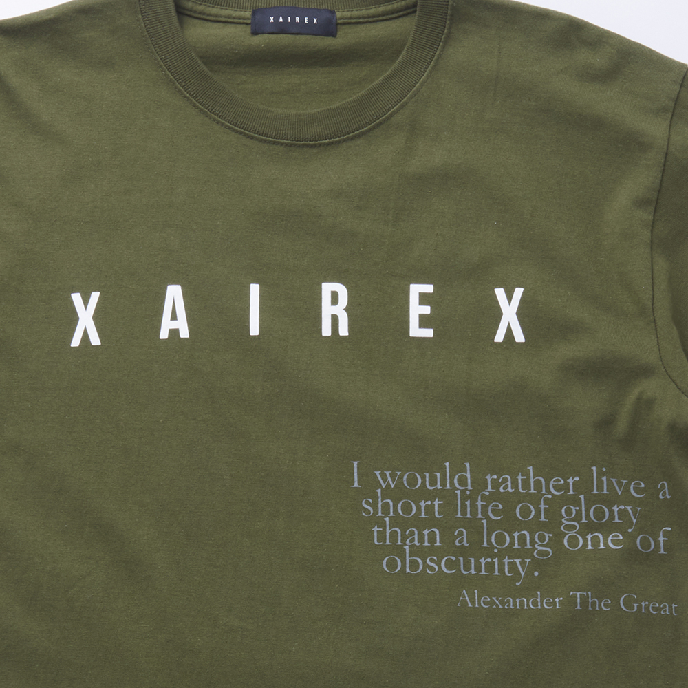XAIREX LOGO TEE(OLIVE)