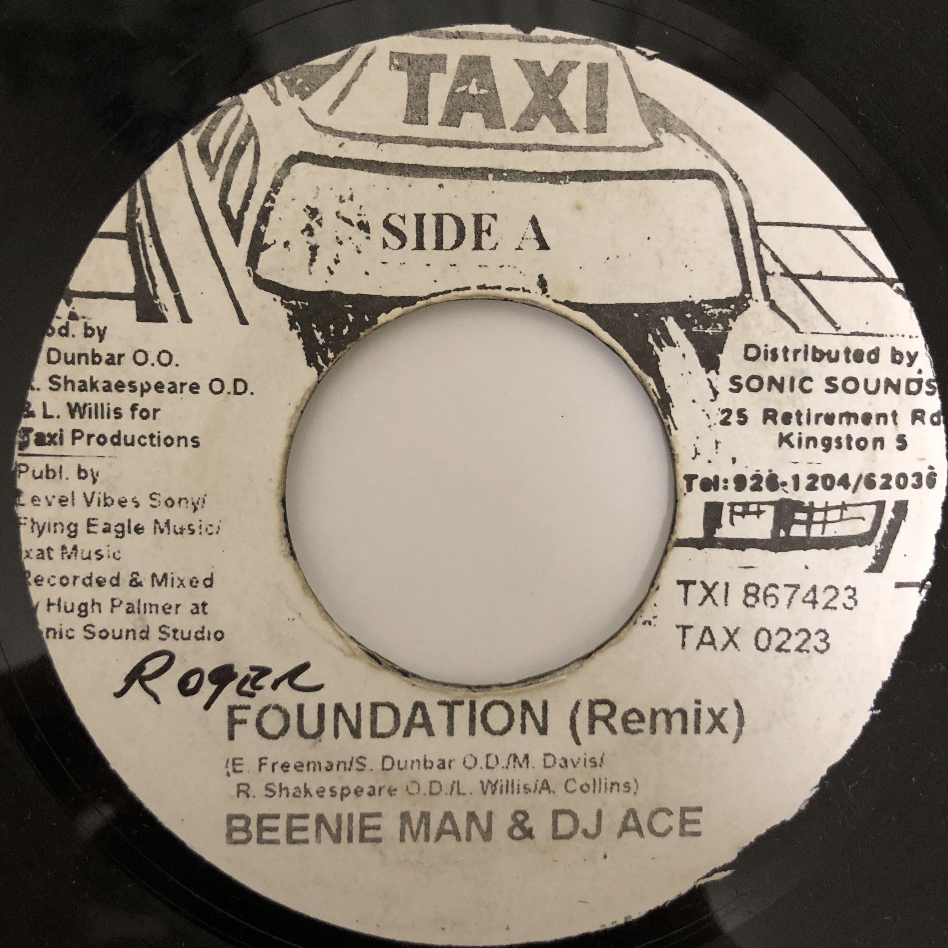 Beenie Man, DJ Ace - Foundation (Remix)【7-20450】