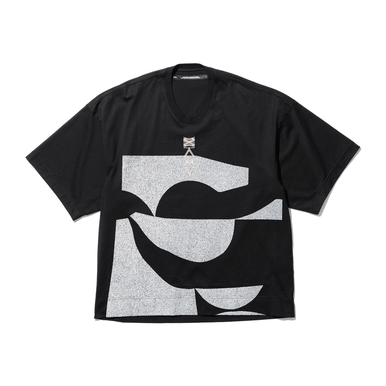 757CPM4-BLACK / プリントカイトTシャツ