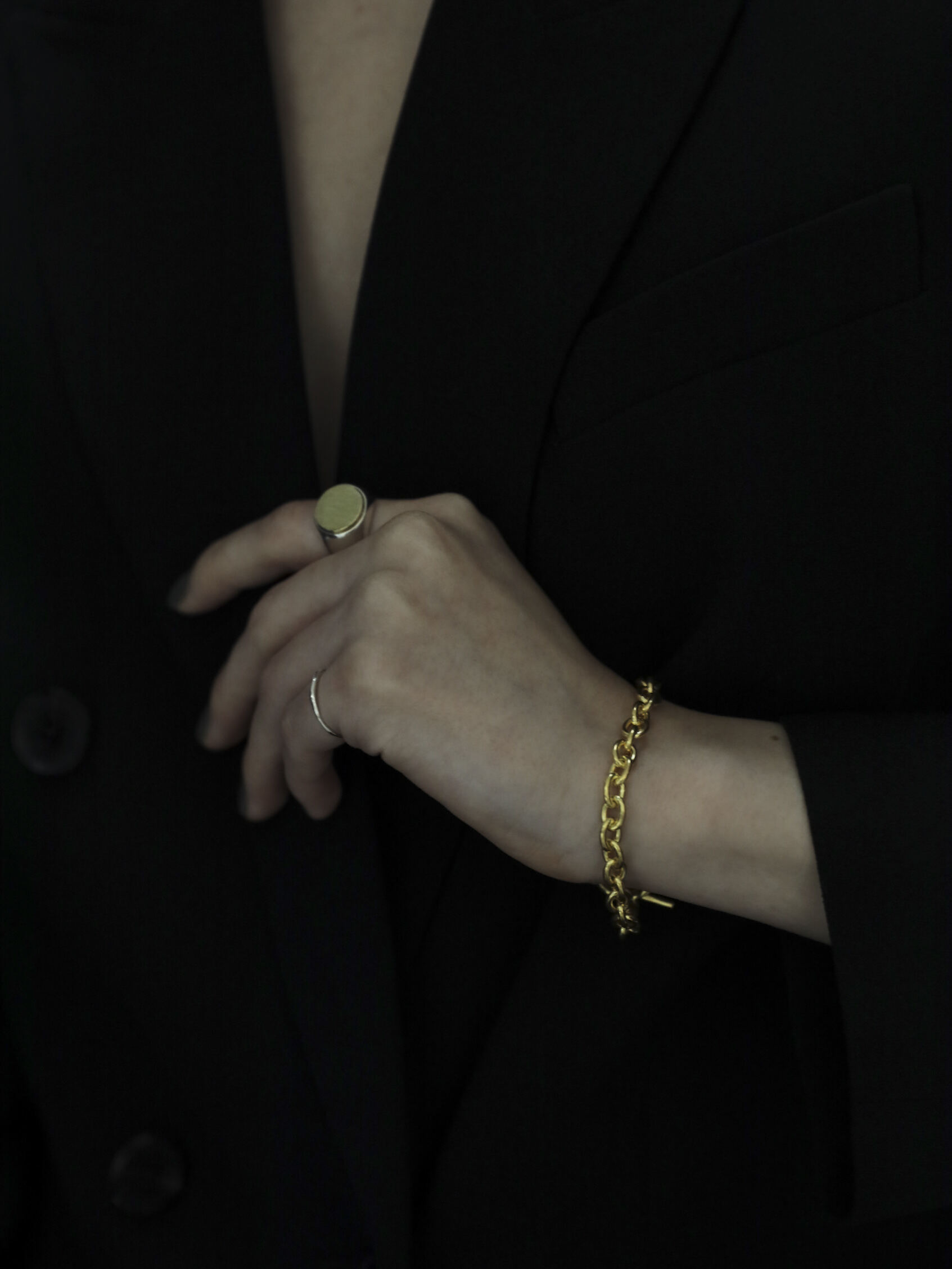 <受注販売>single chain bracelet gold
