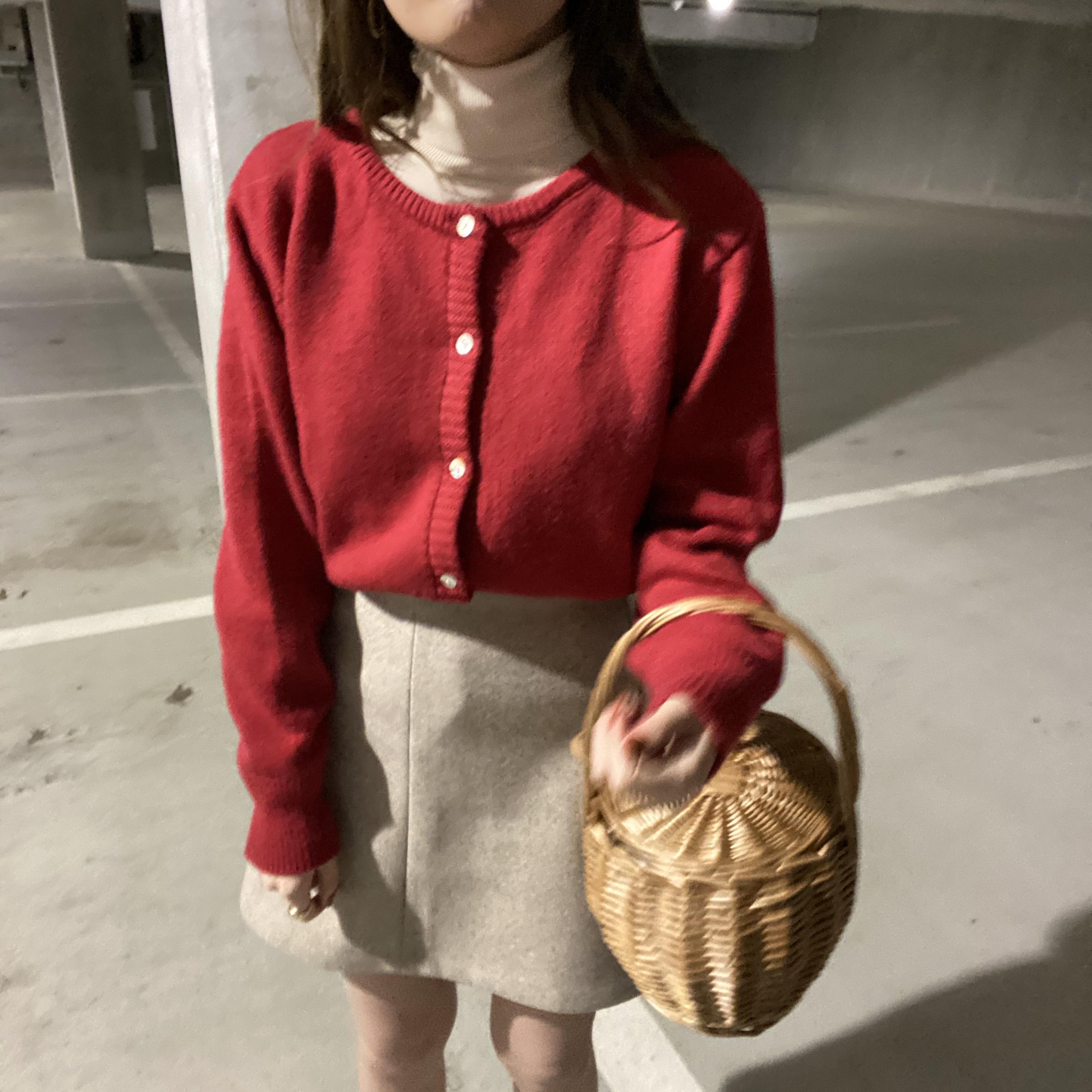 DAYNYC red knit cardigan