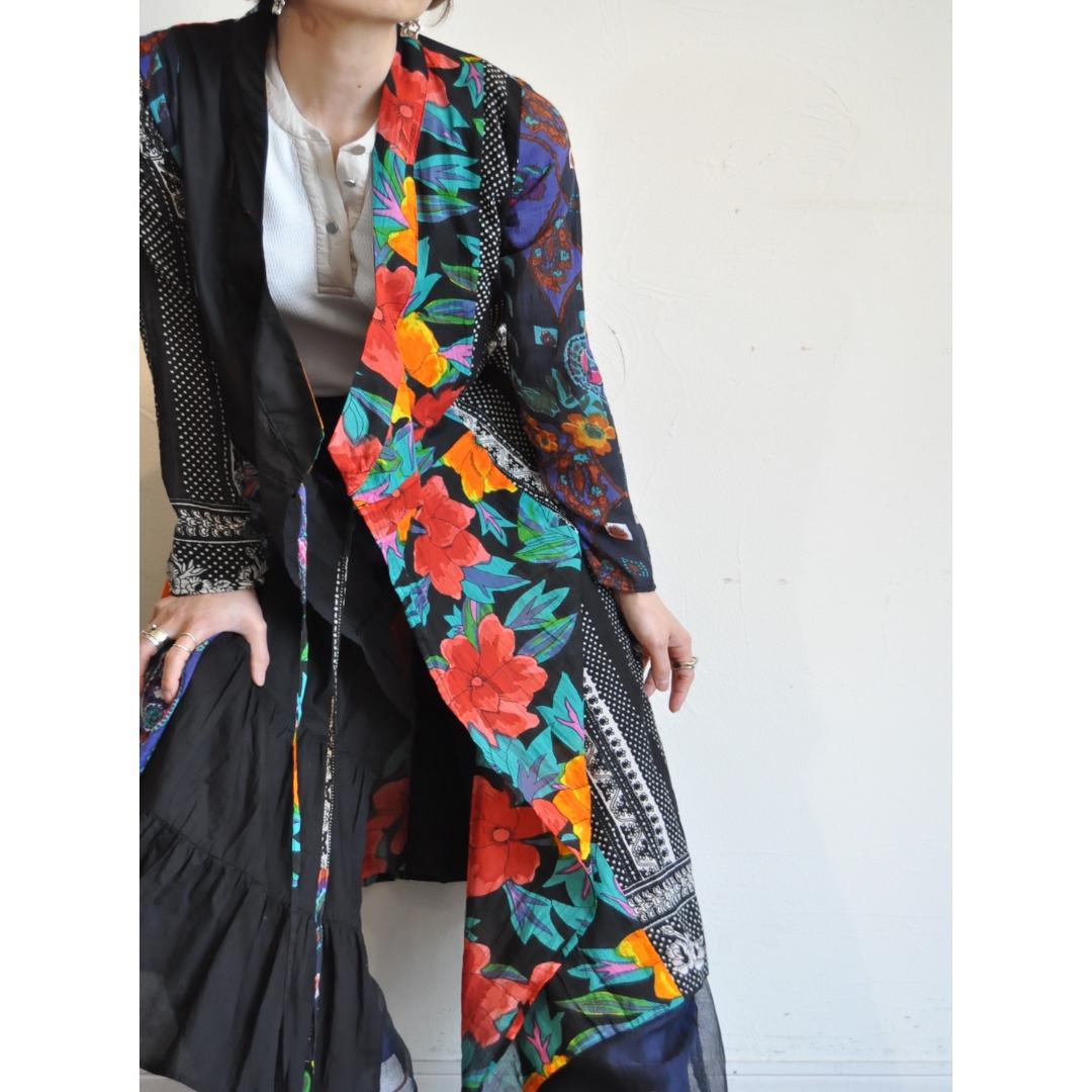 【RehersalL】ethnic gown onepiece(dark 2) /【リハーズオール】エスニックガウンワンピース(ダーク2)