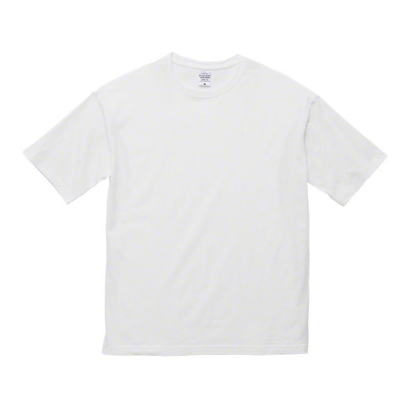 デザインチョイス 5.6オンス ビッグシルエット Tシャツ 白(ホワイト)