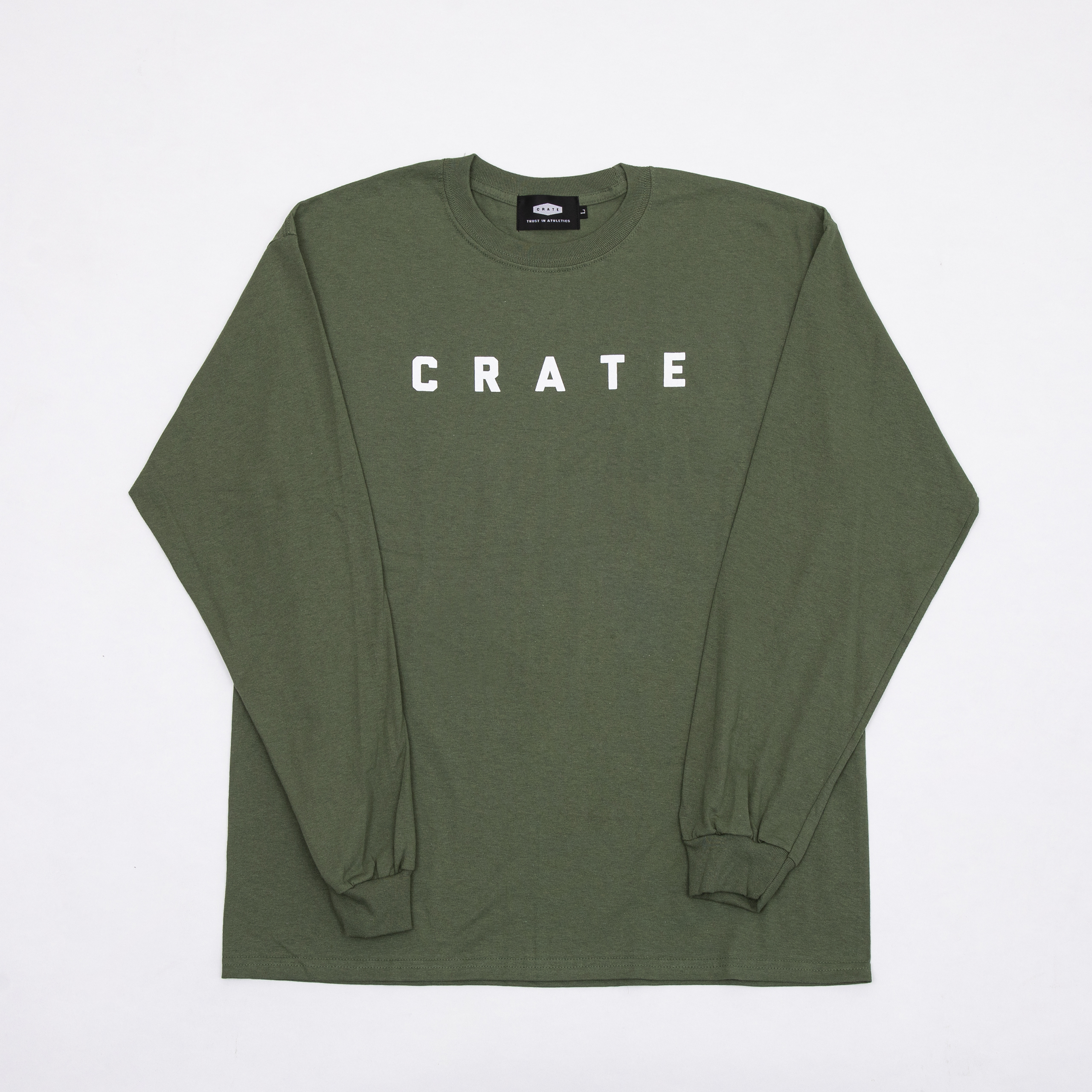 CRATE SIMPLE LOGO L/S T-SHIRTS GREEN