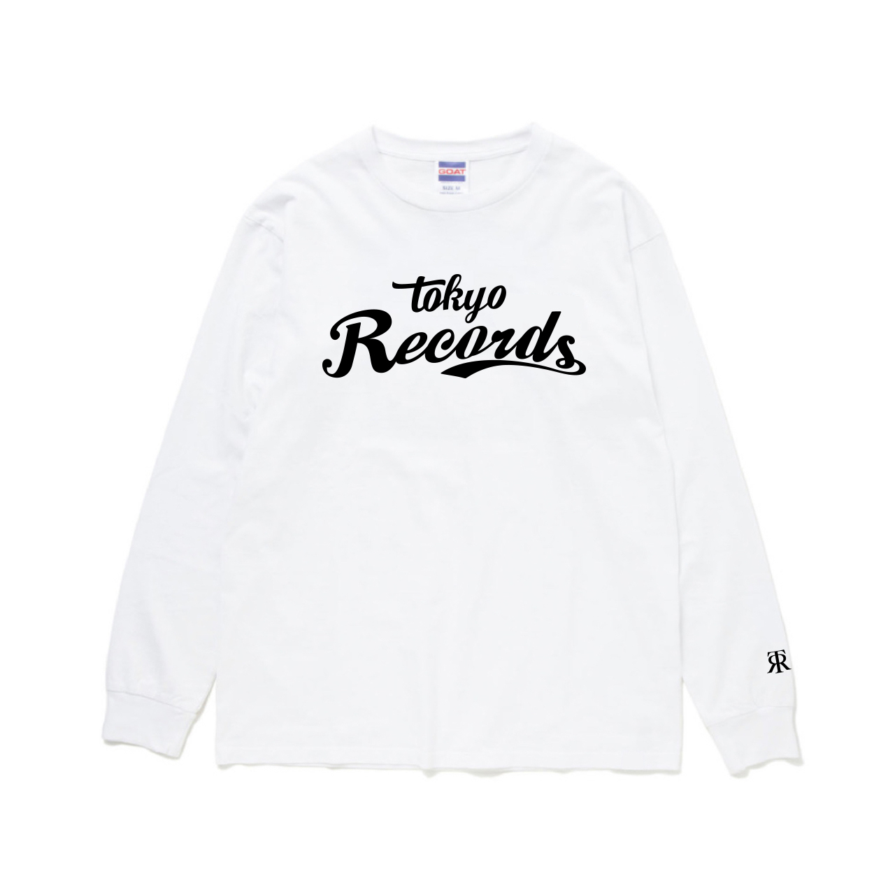 BASEBALL LOGO LONG TEE(WHT × BLK)