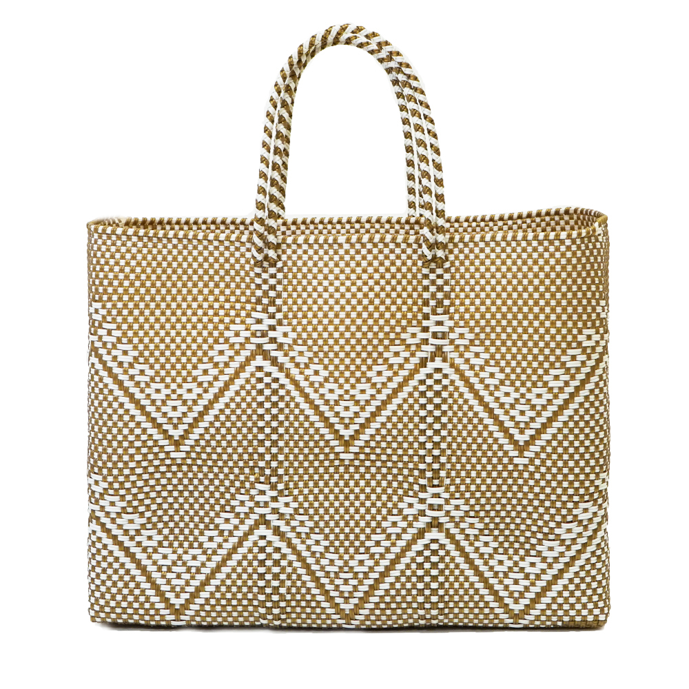 MERCADO BAG  GYPSOPHILA   - Gold × White (L)