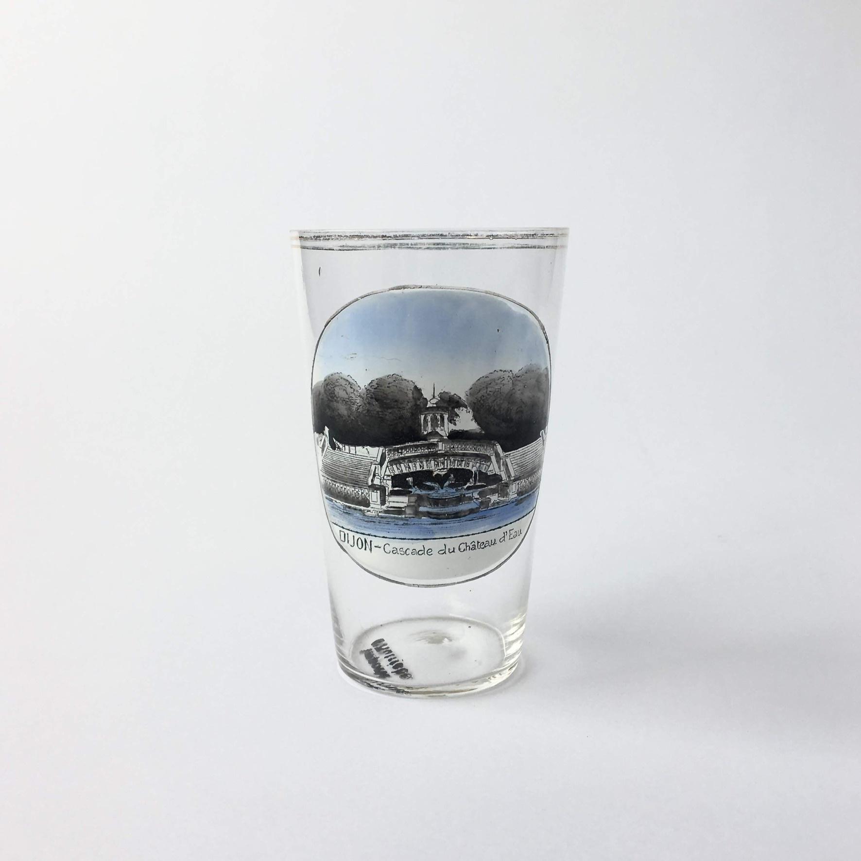"""ヴィンテージ スーベニア グラス「シャトードウの滝」 Vintage Souvenir Glass """"Cascade du Château d'Eau"""""""