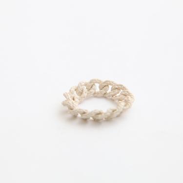 simmon/Knit Ring_White