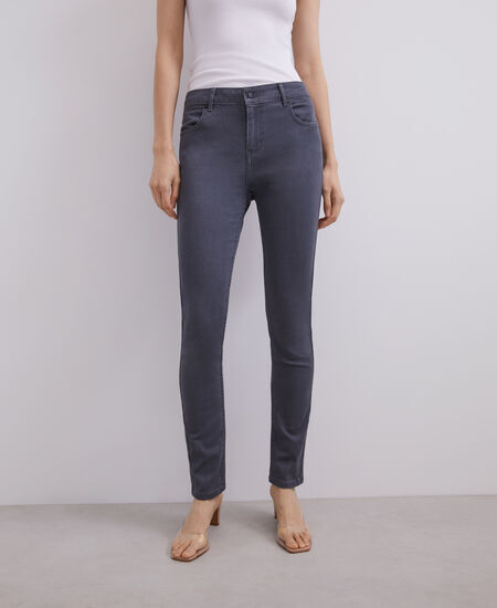 COTTON AND VISCOSE SKINNY JEANS [290063694102]
