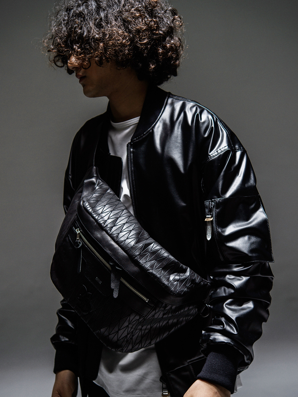 RESOUND CLOTHING (リサウンドクロージング) DECADE COLLABO BODY BAG / BLACK RC21-BAG-002RD-1