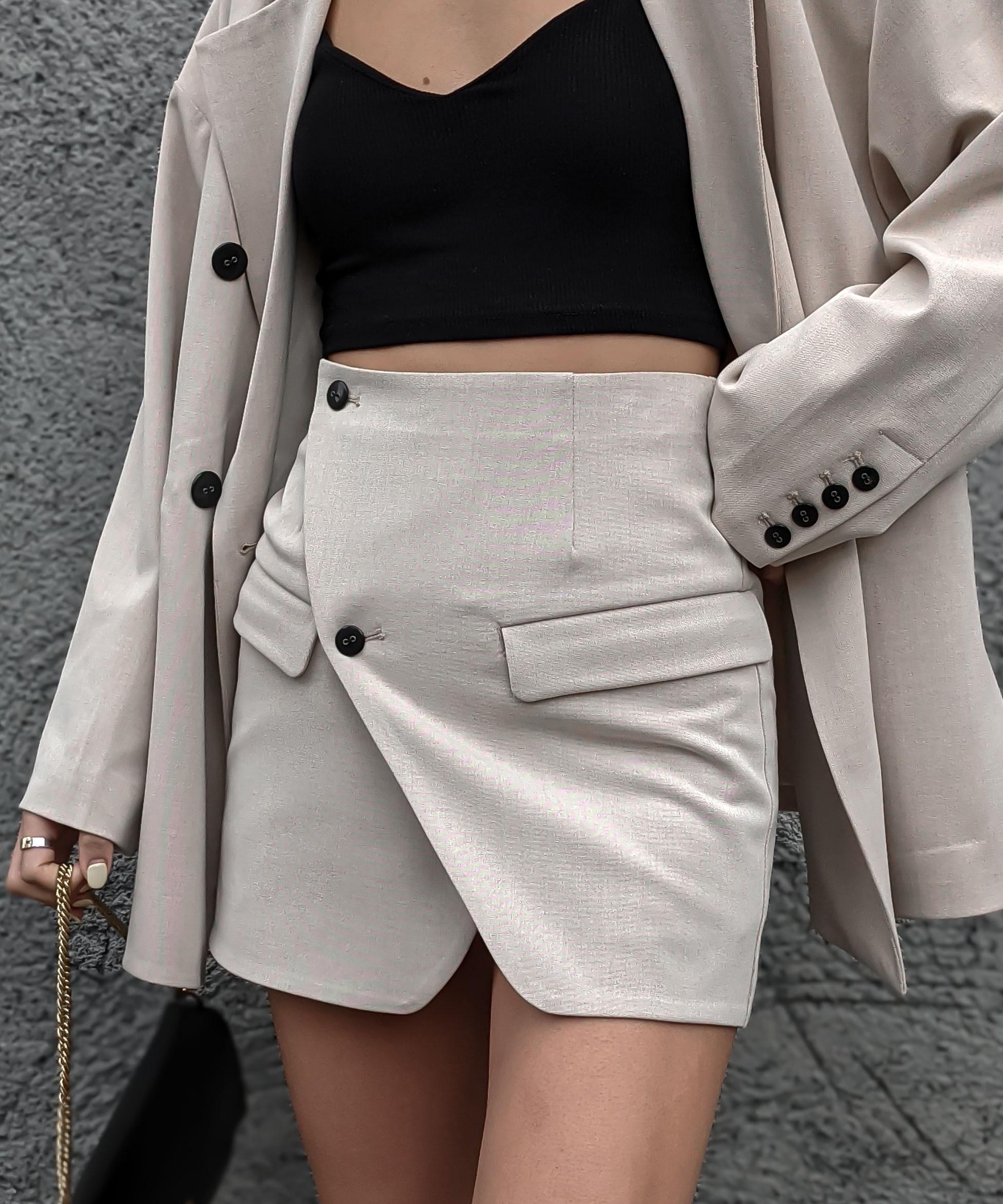 Front cut wrap skirt